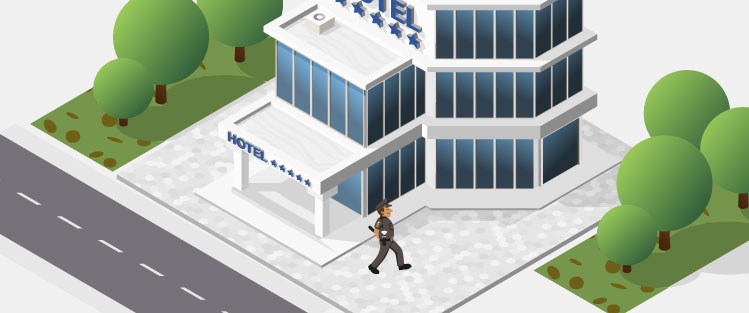 protect hotel entrace - security
